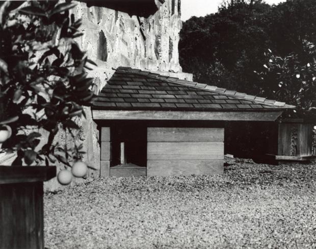 Como pesava 110 kg, tinha um telhado inclinado e triagular e devia ser feita de madeira nobre, a idéia só saiu do papel na década seguinte. O engraçado é que a casa foi destruída pouco tempo depois, já que o cachorro de Jim preferia mesmo a varanda da casa dos donos.