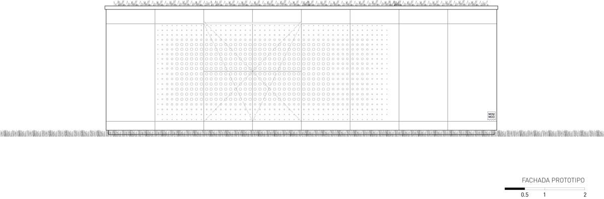 Fachada lateral com aberturas, projeto da MAPA Arquitetura