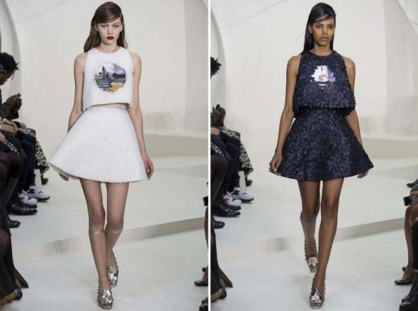 Formas geométricas foram muito usadas na coleção da primavera verão Dior.