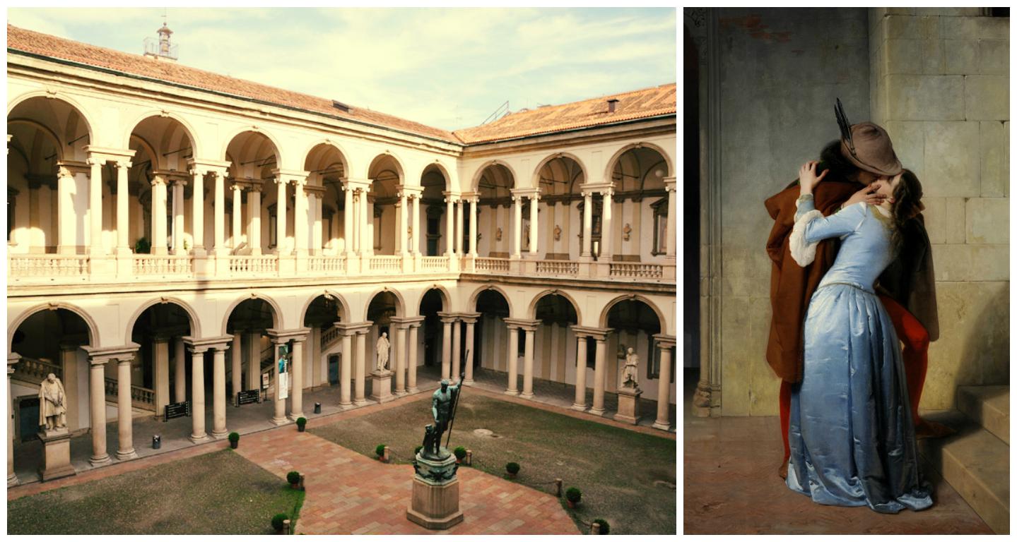 O Palácio de Brera era convento de jesuítas no século 16, onde havia um centro de estudos. Durante a dominação austríaca em Milão, a imperatriz Maria Teresa d'Austria fundou a Academia de Belas Artes (1776). A Pinacoteca foi criada para a formar uma coleção de obras as quais os estudantes da Academia poderiam usar como modelos. Em 1982, a tradicional familia Jesi doou à Pinacoteca uma rica coleção de 60 obras dos maiores artistas italianos do ínicio do século 20 (entre eles, Boccioni,Modigliani, Morandi e Martini) e alguns artistas estrangeiros, como Picasso. Dessa maneira, a Pinacoteca está mais completa, incluindo estas obras do século 20.