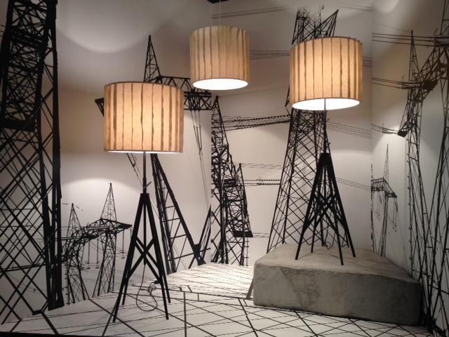 Pendentes Pylon da Foscarini para a Diesel Living em exposição no iSaloni 2014