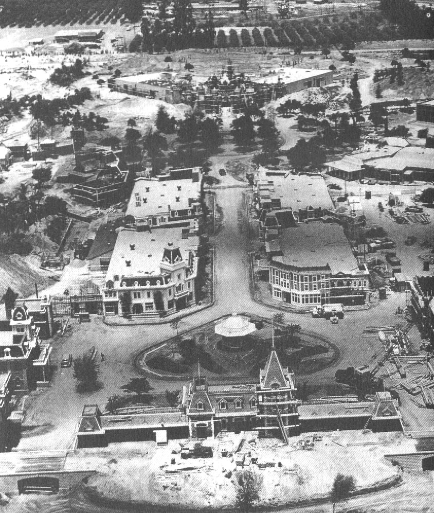Vista aérea do parque, ainda em construção em 1955.