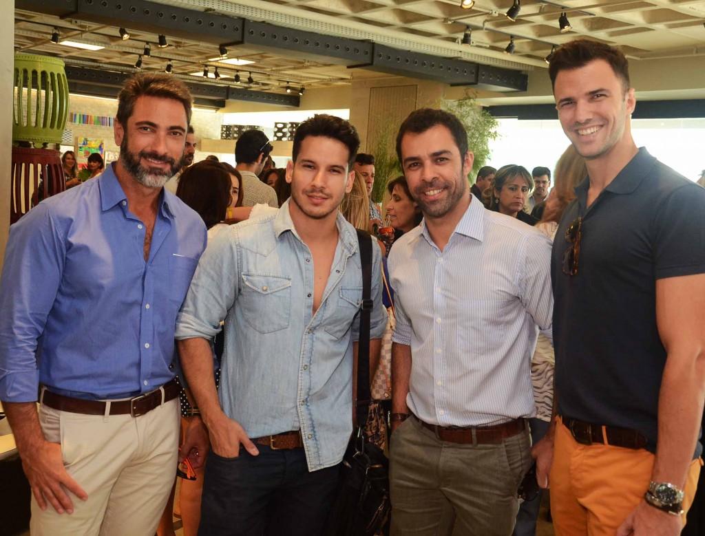 Fabio Cardoso, Carlos Carvalho, Marcio Marques e Rodrigo Beze