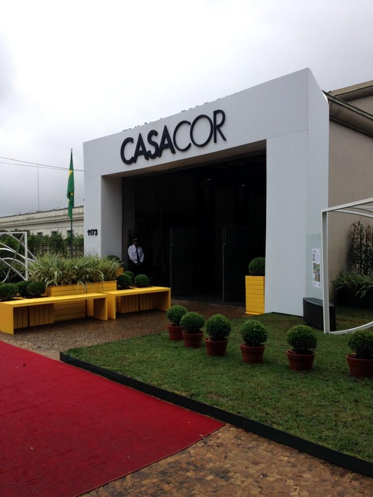 A fachada linda do Casa Cor São Paulo 2014!!! Nas cores do Brasil!
