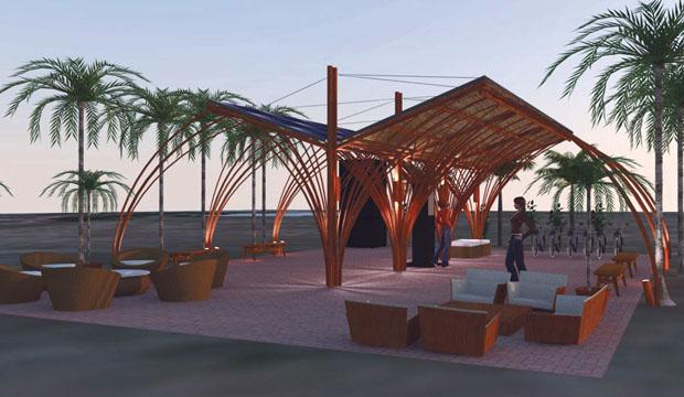 Os projetos em 3D são uma ferramenta muito importante quando se quer ter uma visão antecipada do resultado final do ambiente decorado. Este é o 3D para o Espaço Solar, ambiente da área externa do Casa Cor 2013