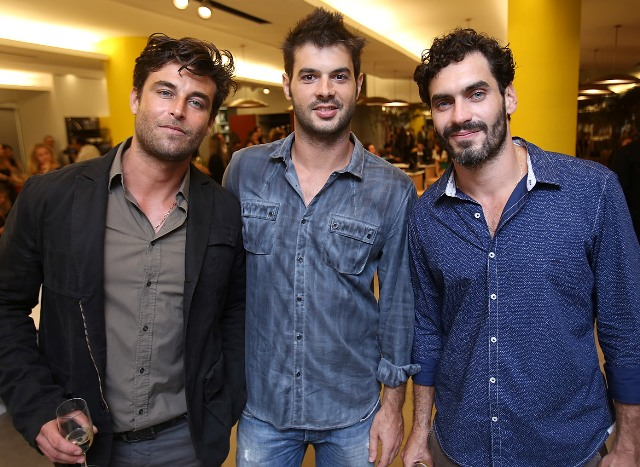 Angelo Tinoco, Rodrigo Bertoldo e Nikolas Antunes