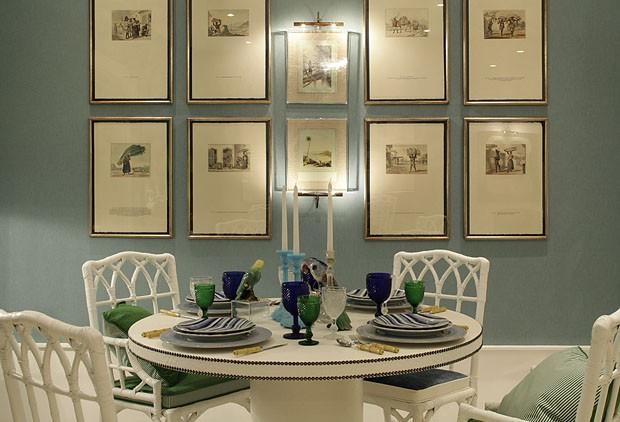 Wiliam Maluf trouxe as cores do Brasil para sua delicada Sala de Jantar.