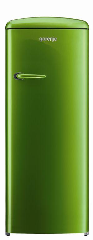 A geladeira Gorenje Retro em verde bandeira! Adoreiii, já imagino uma dessas em um espaço Gourmet! Linda!