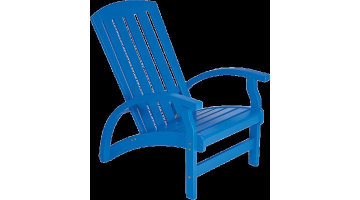 Cadeira da LZ Studio em azulão, que bossa que dá em uma varanda, por exemplo!
