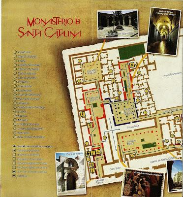 Mapa atual do Mosteiro santa Catalina
