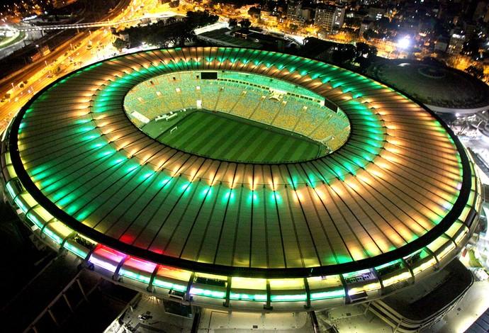 Maracanã com iluminação em verde e amarelo! Quero ver o Brasil na final!!  #imaginanafinal