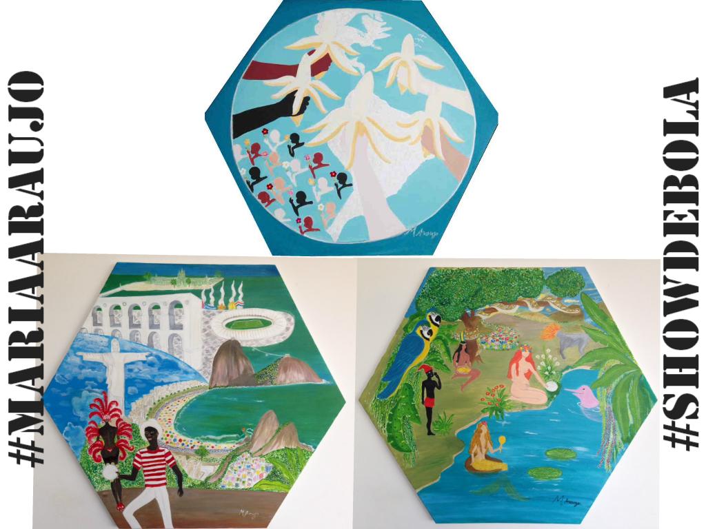 Os quadros da artista plástica - e minha mãe! - Maria Araujo representam as riquezas brasileiras: nosso povo, nossa natureza e nossas obras primas de arquitura! Belíssimo!