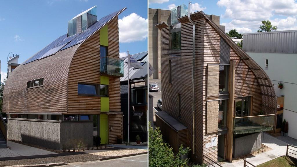 Casa com painel solar na Europa