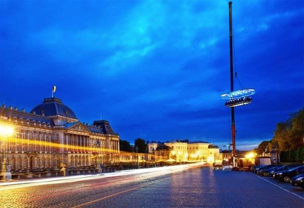 Dinner in the Sky no ceu de Brussel