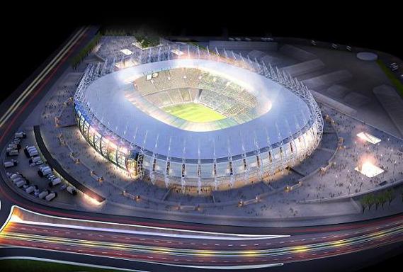 O Estádio Governador Plácido Castelo, mais conhecido como Castelão, em Fortaleza – CE