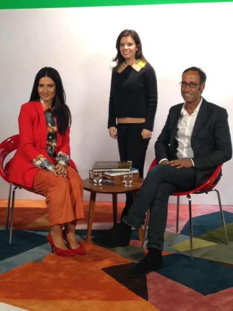 Após o almoço, o Belas Artes foi palco para uma entrevista do Michel a Alice Ferraz, do FHits!