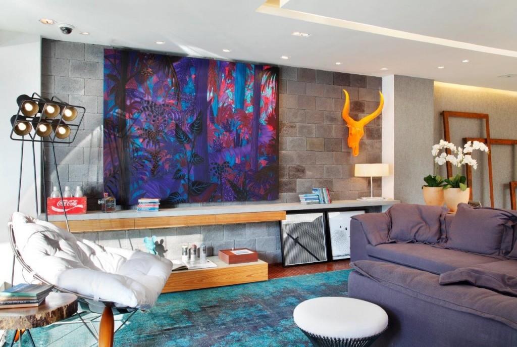 Cheio de cor, luz e conforto, o ambiente projetado pelos arquitetos Alexandre Gedeon e Hugo Schwartz esta lindissimo. A comunhao entre as cores e os materiais ficou harmonica e ousada. Super jovem!