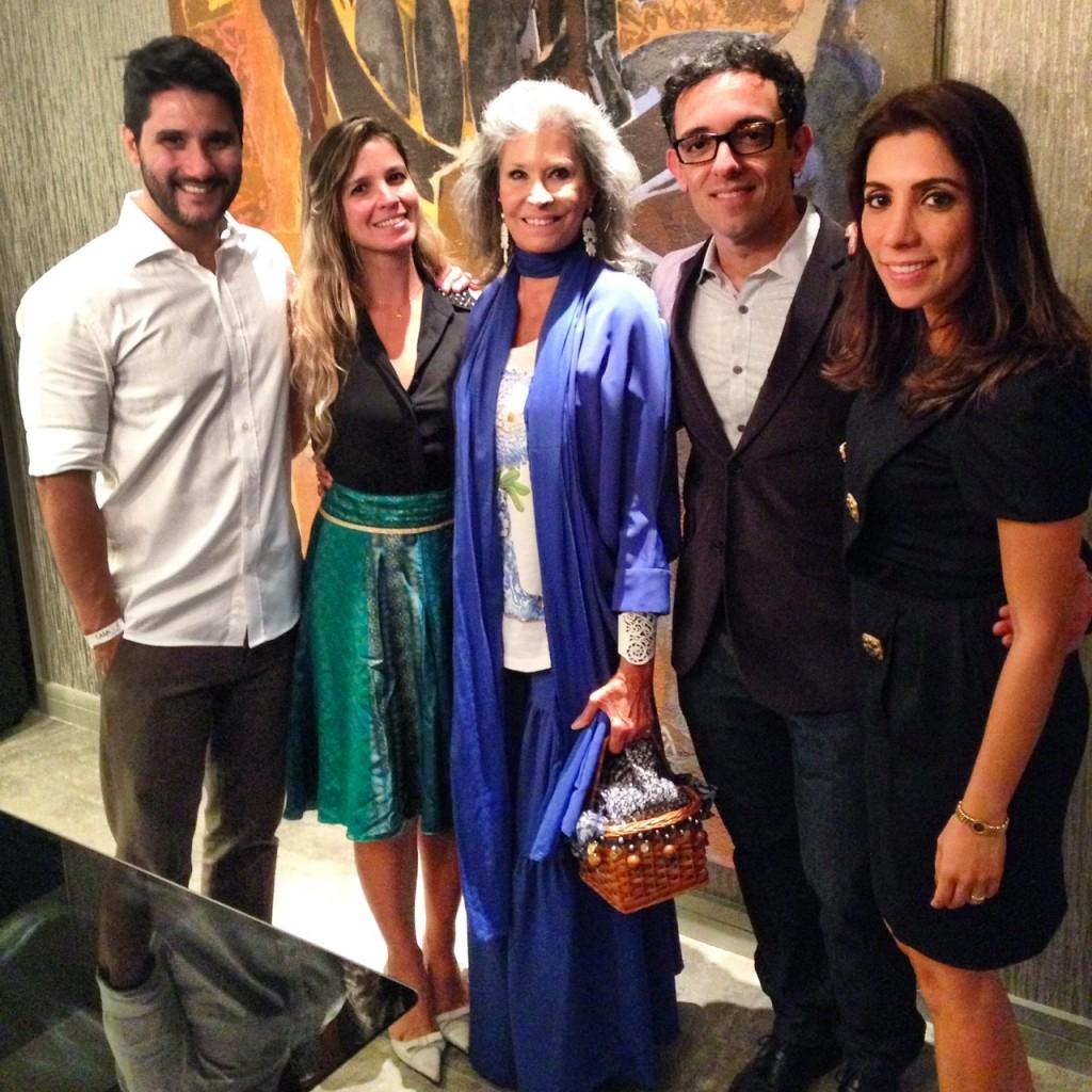 Fabio Bouillet, eu, Gisela Amaral, Rodrigo Jorge e Mariana Amaral no Cocktail de Inauguração do Casa Cor Rio 2014.