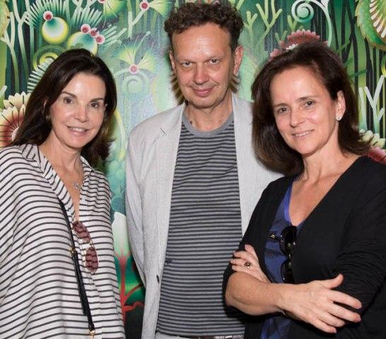 Patricia Mayer, Tom Dixton e Patricia Quentel em tour no Casa Cor no sábado, dia 25 de outubro.