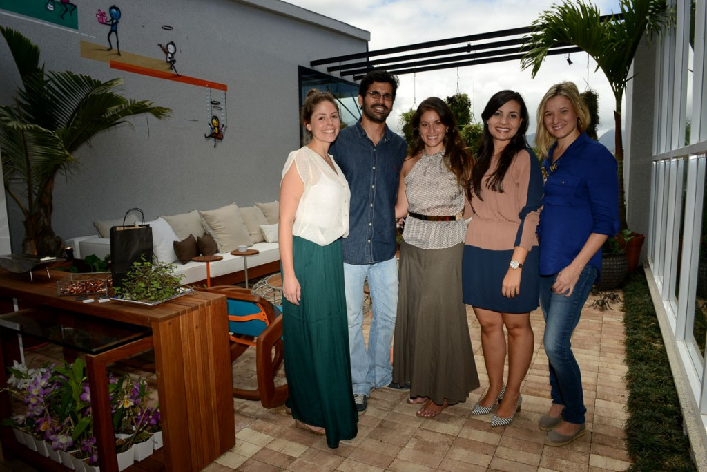 Priscila Campos, Guilherme Portugal, Karyne Lima, Paula Costa e Camilla Bortolini