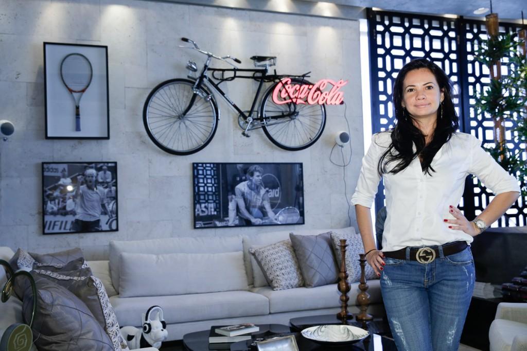 Leila Dionízios no seu Fitness Room