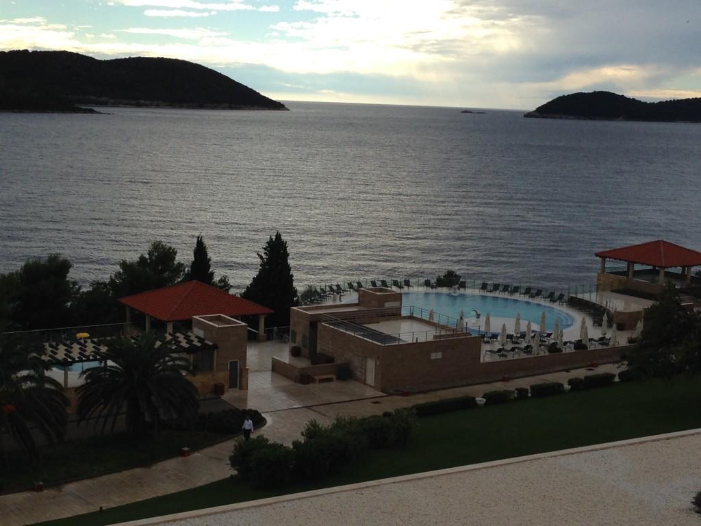 Vista do Hotel sobre o Mar Adriático