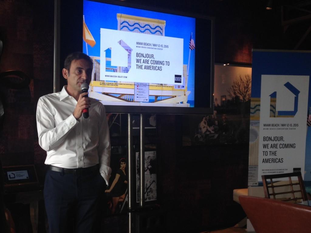 Philippe Brocart apresentando o Maison&Objet Américas