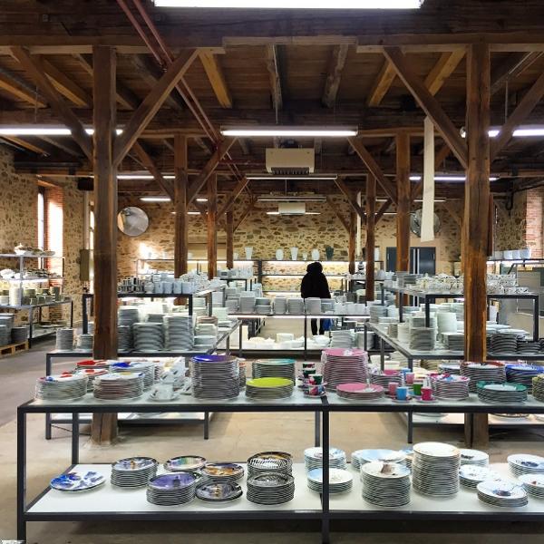 Loja da Bernardaud, na fábrica da cidade de Limoges: 50% OFF