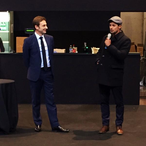 Apresentação da Maison Objet Americas. Philippe Brocart e o designer homenageado Zanini de Zanine