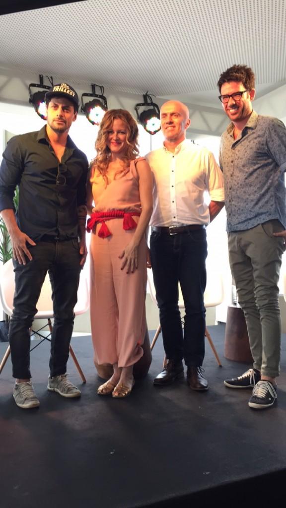 Zanini, Carol, Gringo e Fernando - o primeiro bate papo foi sobre design e a influência de Paris nas criações e carreiras dos três convidados.
