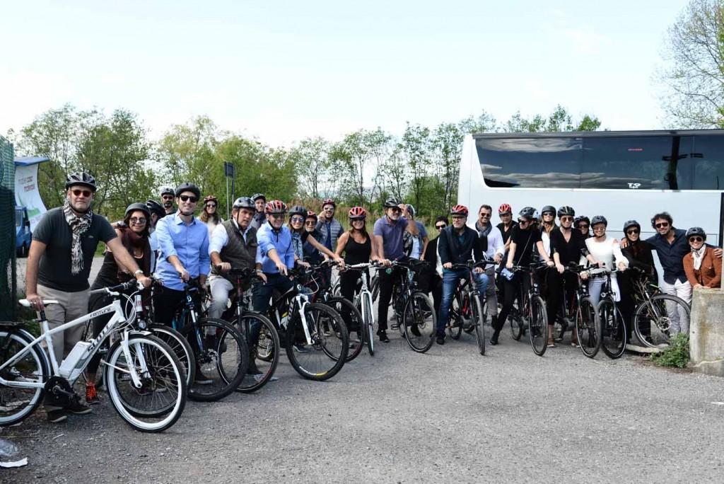Prontos para o Bike Tour pela Strada Del Vino, em Franciacorta