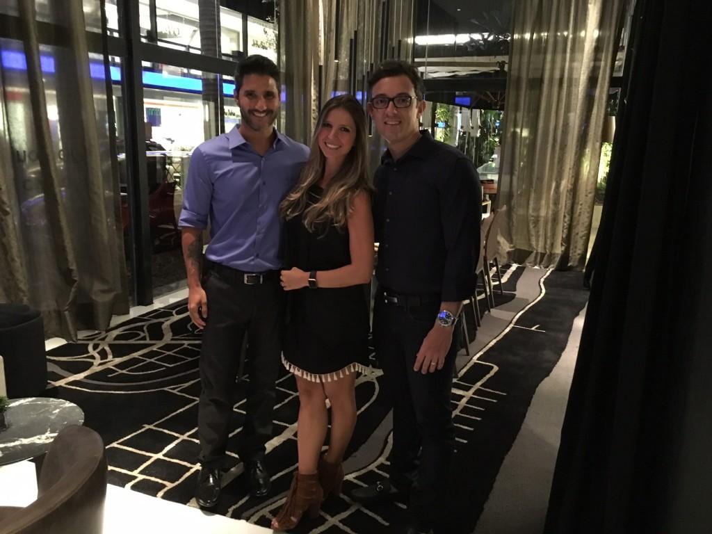 Com Fabio Bouillet e Rodrigo Jorge, conferindo Miami