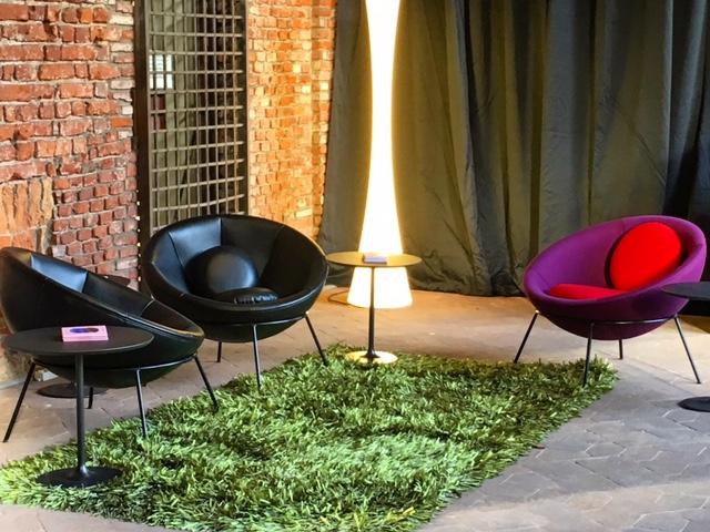 O Lounge que recebeu os convidados para o Lançamento Internacional do DW!SP e High Design Expo em Milão.