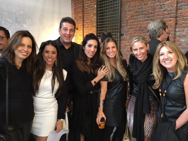 Tamar Paiva (Entreposto), Paola Oliveira (High Design), Lauro Andrade, Mariana Amaral (MAC Comunicação e MAC Talents), eu, Alessandra Estelles (Vermeil) e Carmem Alvim (apresentadora da Band).