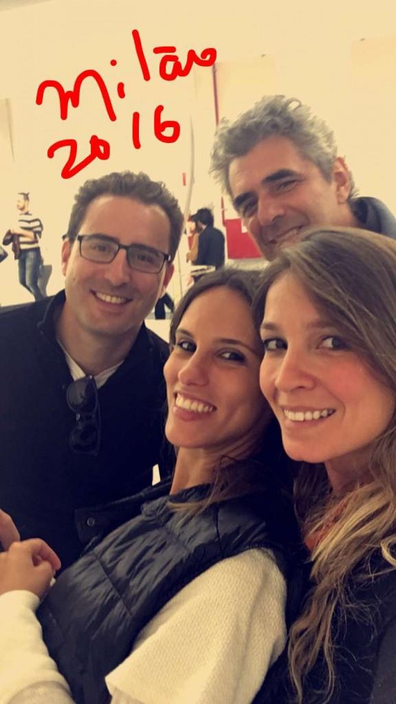 Bruno Antonaccio - da Deca, Andrea Costa do D&D Shopping e Fran Abreu do Brazil S/A comigo em Milão! Que honra ter amigos como eles.