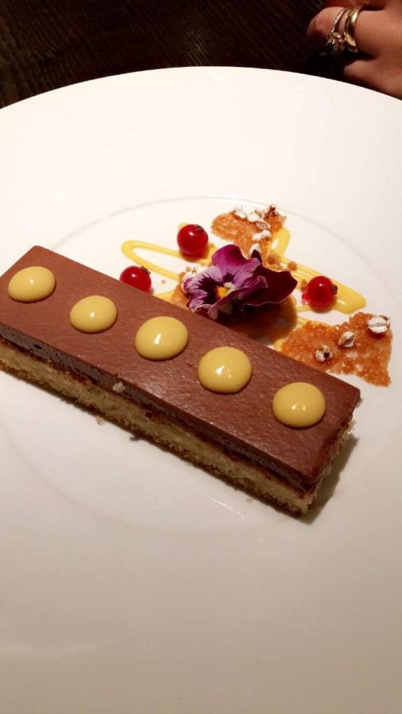 Sobremesa deliciosa do Nobu, no Armani Hotel em Milão