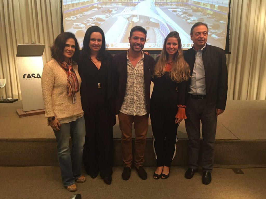 Gilda Antoniazzi, Flavia Manhães, Alexandre Cardim, Aline Araujo e Francisco Grabowsky.