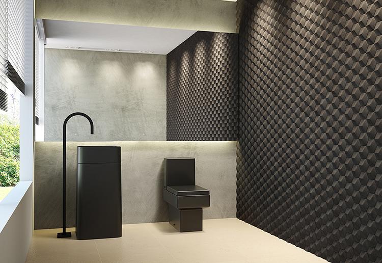 Ambiente bicolor: acabamento Black Matte e muita sofisticação.